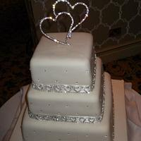 Kare Wedding cake by Cakesnstuff