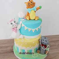 Baptism Aristocats Cake