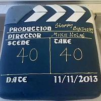 Clapperboard .