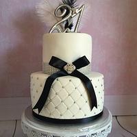 Elegant feather cake
