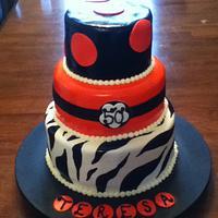 Zebra 50th cake