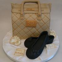 Handbag and dolly shoes