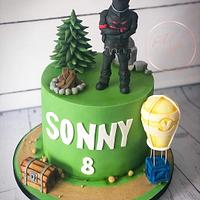 Fortnite black knight cake