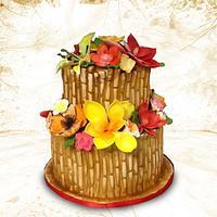 Hawaiian Themed Cake by MsTreatz