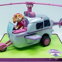 Skye Helicopter Cake