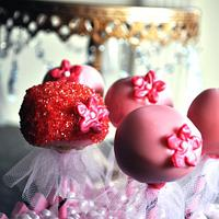 Girly Lollipop Cakes