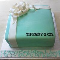 Tiffany Present by CakeDIY