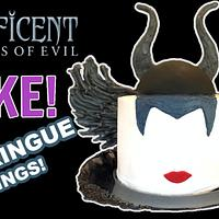 MALEFICENT CAKE WITH MERINGUE WINGS!