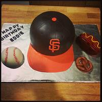 SF giants hat by Norma Angelica Garcia