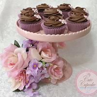 Chocolate Heaven Cupcakes with pretty pink bow