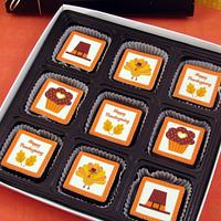 Thanksgiving Brownie Bites Gift Box