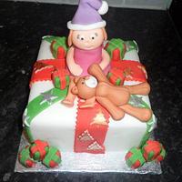 christmas 'present' cake