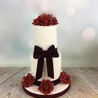 Mini wedding cake anniversary cake