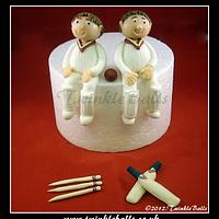 Cricket Twins Cake Toppers