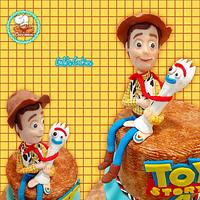 Woody and forky toy story 4 cake topper