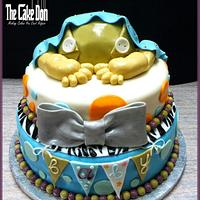 "The ""ROCK A BYE BABY"" Baby Shower Cake"