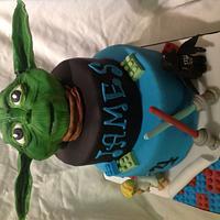 Star Wars/lego cake
