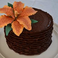 Chocolate ruffles and a tiger lily