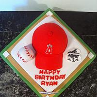 Angels Baseball Cake by Nikki Belleperche