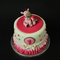 Girafe Girly One Birthday Cake