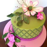 Magnolia Garden Cake