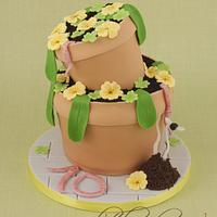 Wonky Plantpot Cake