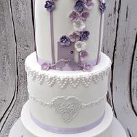 3 Tier Birdcage wedding cake