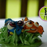 Nemo & Dory cake topper