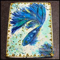 Jumbo painted fish cookie