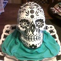 Harrys birthday skull cake