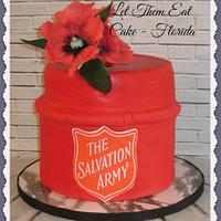 Salvation Army kettle cake