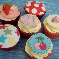 More Cath Kidston inspired Cupcakes!! for 21st