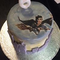 Harry Potter Piñata Cake