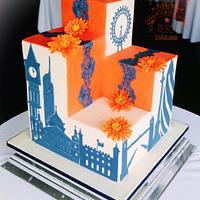 London skyline cake