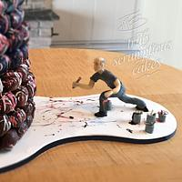 Jackson Polluck Cake Bite Tower by MonikaS • Truly Scrumptious