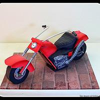 Motorbike shape cake