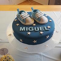 Blue babyshower cake
