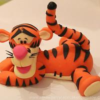 Tigger Cake Topper by Strawberry Lane Cake Company