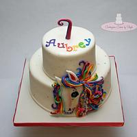 1st Cake After Surgery: Lisa Frank  by Centerpiece Cakes By Steph
