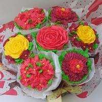 mothers' day cupcake bouquet