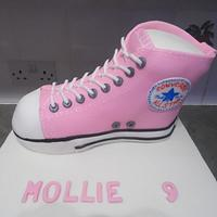 Mollie's pink converse boot cake