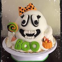 Vampire Ghost Cake