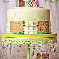 Cake Central Magazine Feature - Beatrix Potter Baby Shower Cake