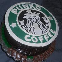 StarBucks Logo Custom Cake