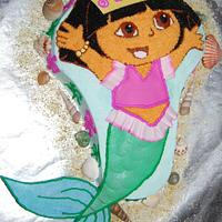 Dora Mermaid Cake