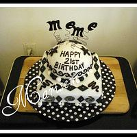 Black & White Birthday by Slice of Sweet Art