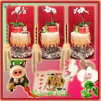 Table Top-themed 3 Celebrants Birthday Cake