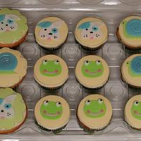 frogs, snails and puppy dog cupcakes