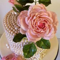 Pink Roses and Pearls Baby Shower