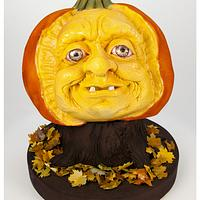 Sugar Paste Carved Pumpkin